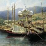 Г.Г. Мясоедов. Пристань в Ялте. 1890 год.