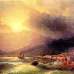 И. Айвазовский. Приморский город Вид на Ялту. 1866 год
