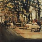 К.Коровин. Кафе в Ялте. 1905 год